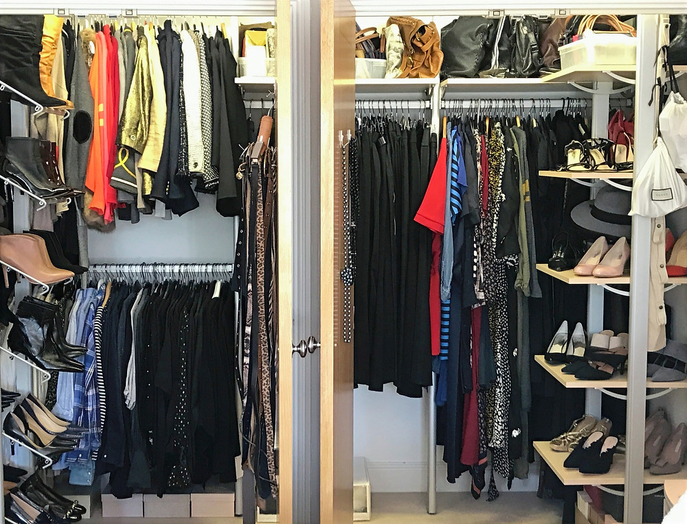 tidy wardrobe clutter free organised clothes shoes