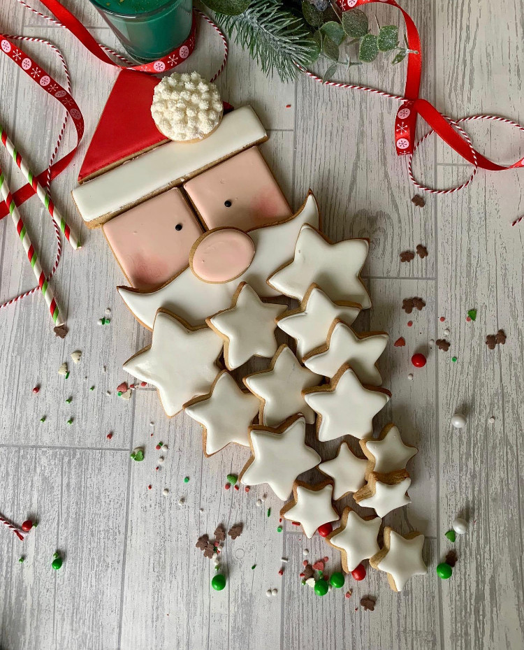 star cookie Father Christmas baking festive decoration