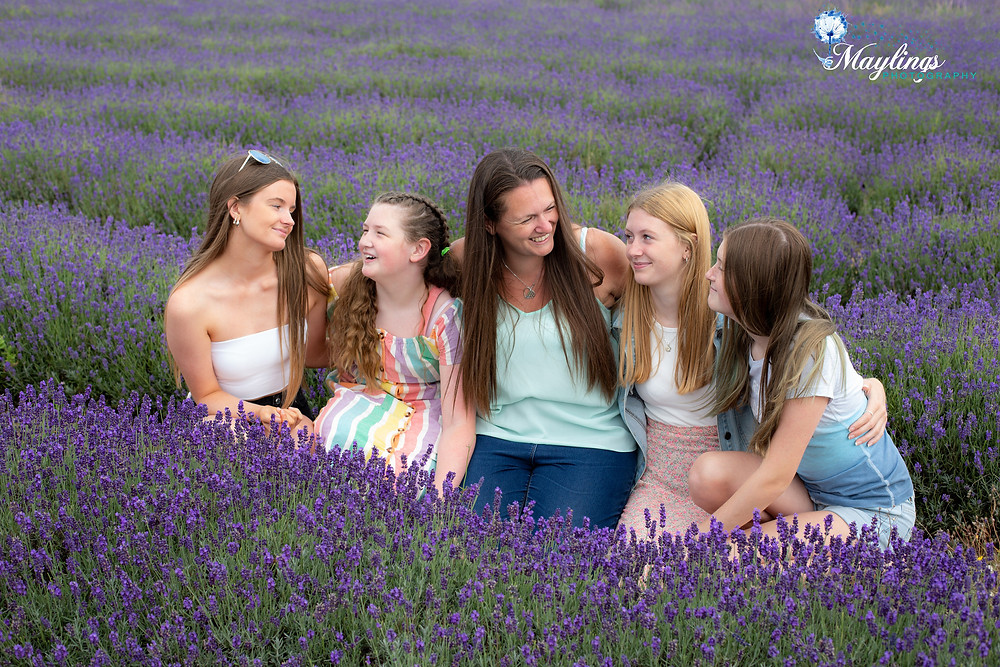 Lavender field daughters family photography portrait