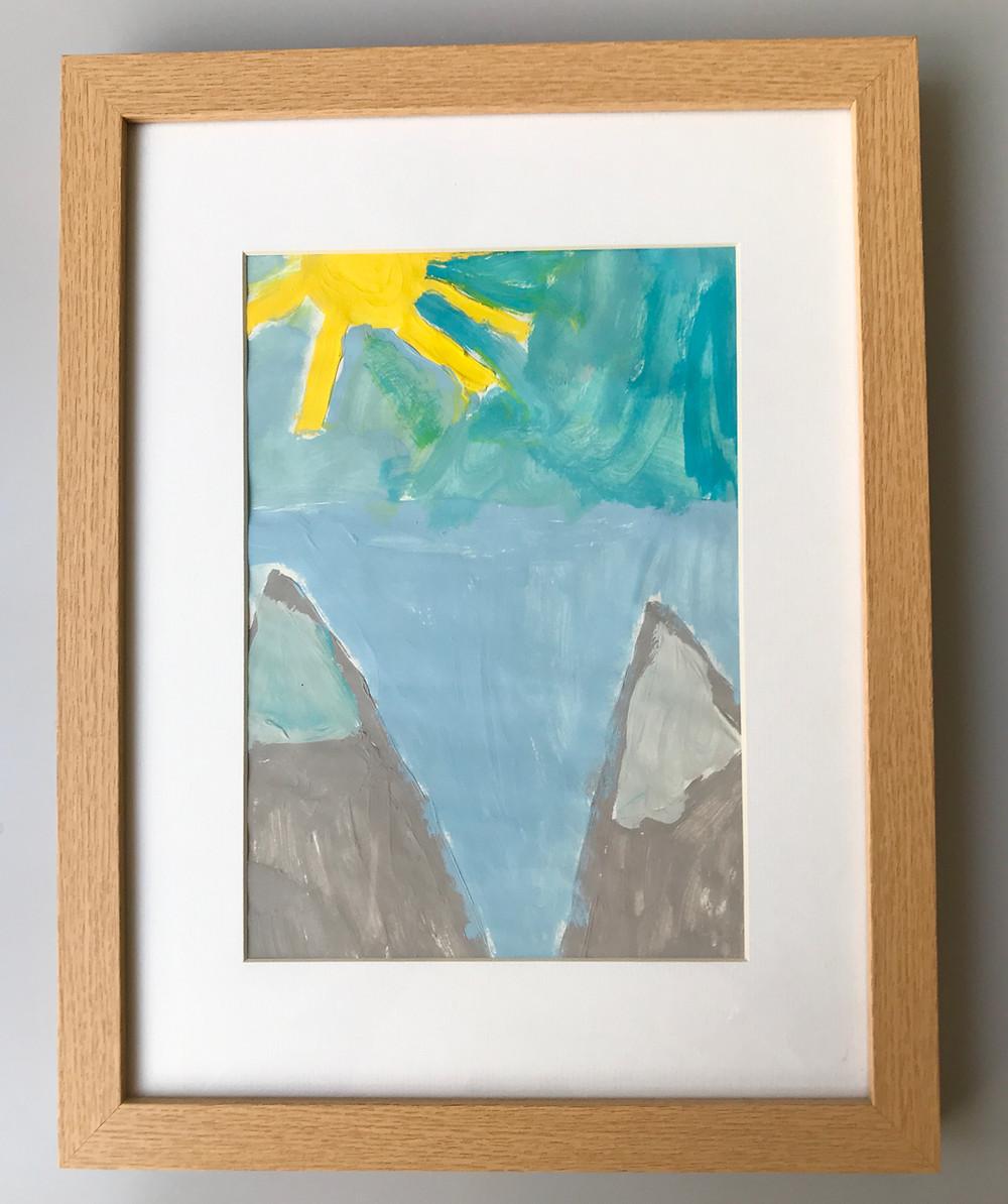 Child's Painting Kid's Art Artwork Memorabilia