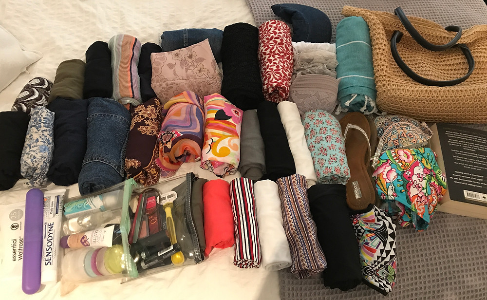 holiday capsule wardrobe hand luggage only
