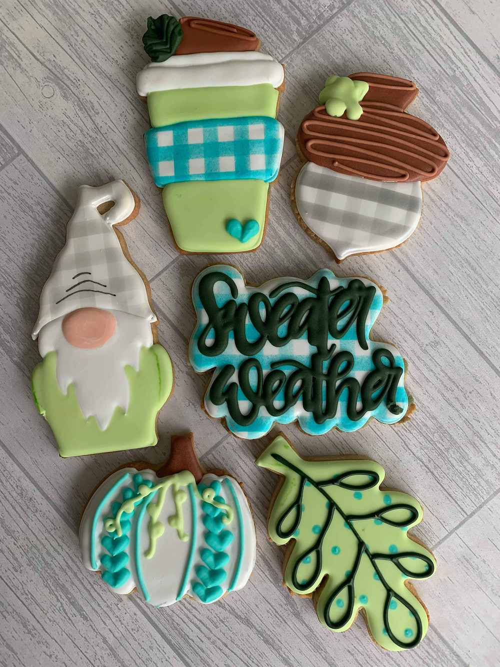 Seasonal Cookies Decorated Iced Biscuits