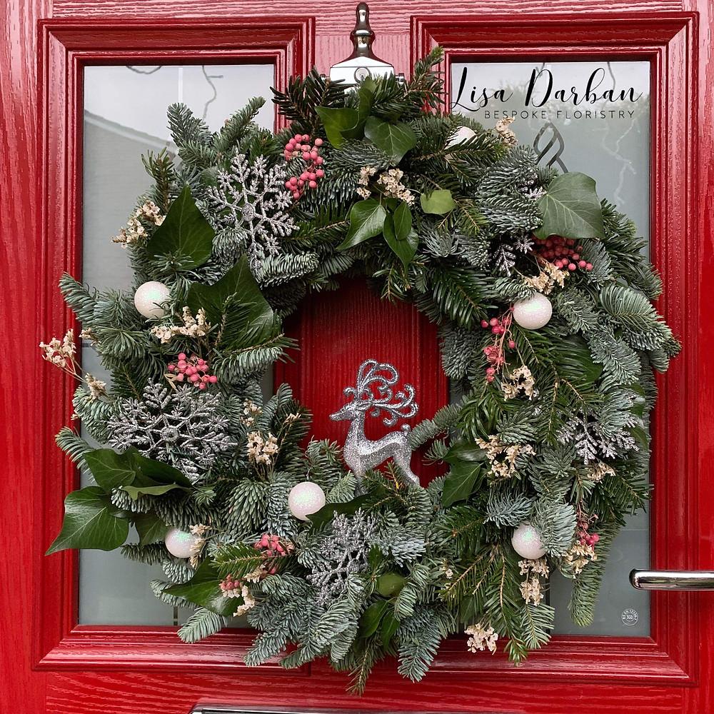 Christmas wreath festive decoration floral