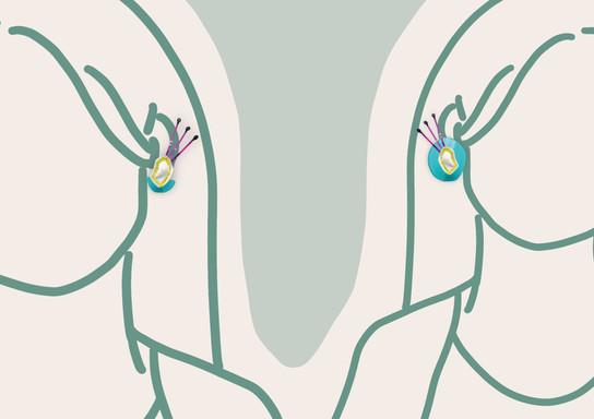 Wild Kiwi Earring | 2020