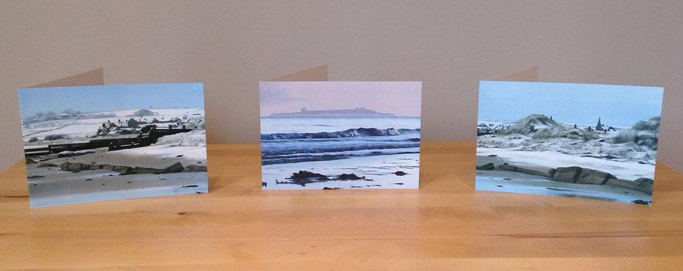 Pack of 3 Mixed Northumberland Coast Greeting Card