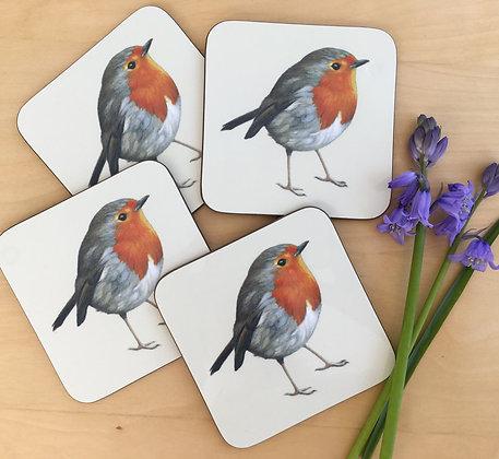 Set of 4 Robin Coasters