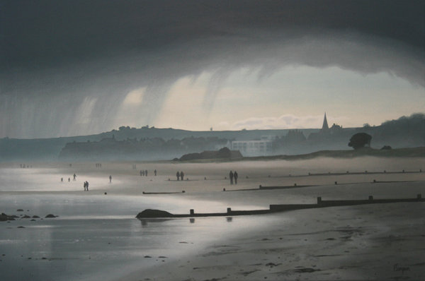 'Rain over Alnmouth Beach' Limited Edition Print in 2 Sizes