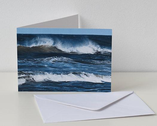 'Big Blue Crashing Waves' Greeting Card