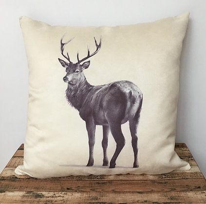 Faux Suede Stag Cushion
