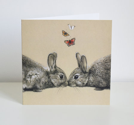 'Love Bunnies' Greeting Card