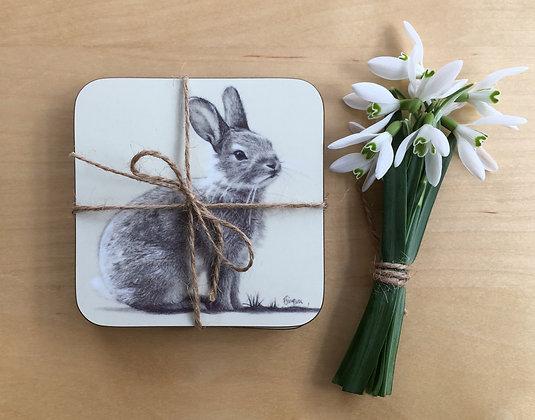 Set of 4 'Twinkle' Rabbit Coasters