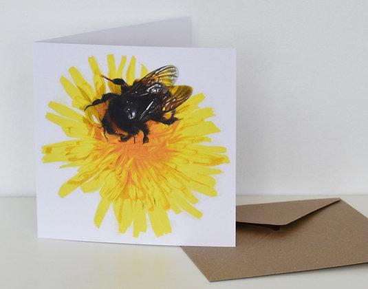 'Dandelion Bee' Greeting Card