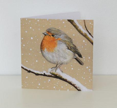 'Winter Robin' Greeting Card