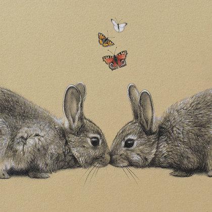'Love Bunnies' Print