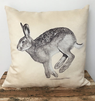 Faux Suede Hare Cushion