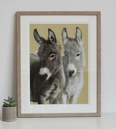 'Donkeys' Limited Edition Print in 2 Sizes