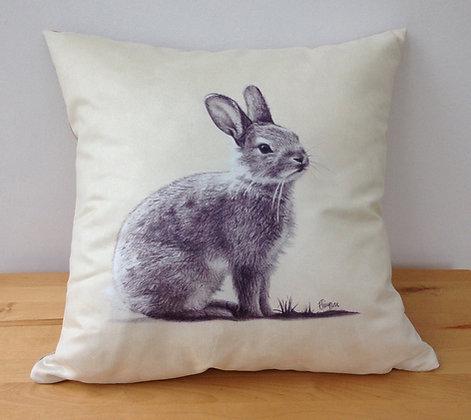 Faux Suede Rabbit Cushion
