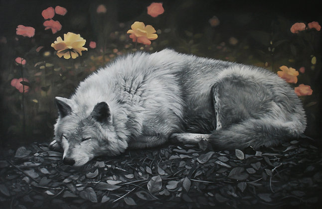 'Sleeping Wolf' Limited Edition Print in 2 Sizes