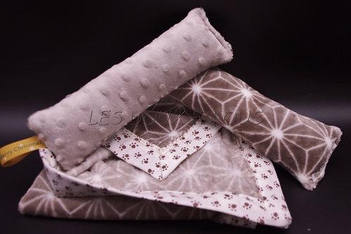 """Couverture en tissu """"Peluche""""© + Doudou"""