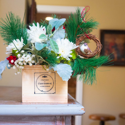 Makes Holiday decorating easy by adding berries, evergreens and ornaments.