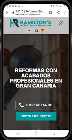 Diseño web de un cliente de Publicanary