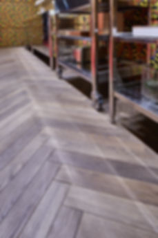 What does parquet wood flooring look like