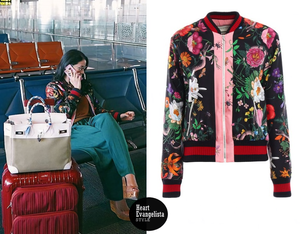 56832f948e3 Heart Evangelista - Gucci Flora Snake Print Silk Bomber Jacket ...