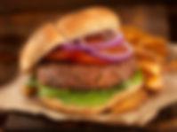 Burger à la carte du snack