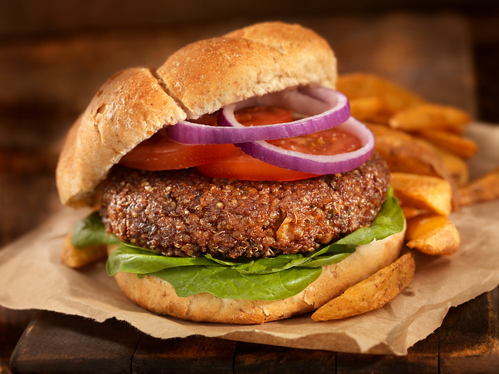 Veggie burger, vegan, plant-based