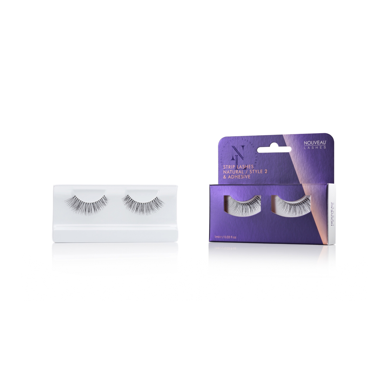 Nouveau Strip Lashes Natural Style 2