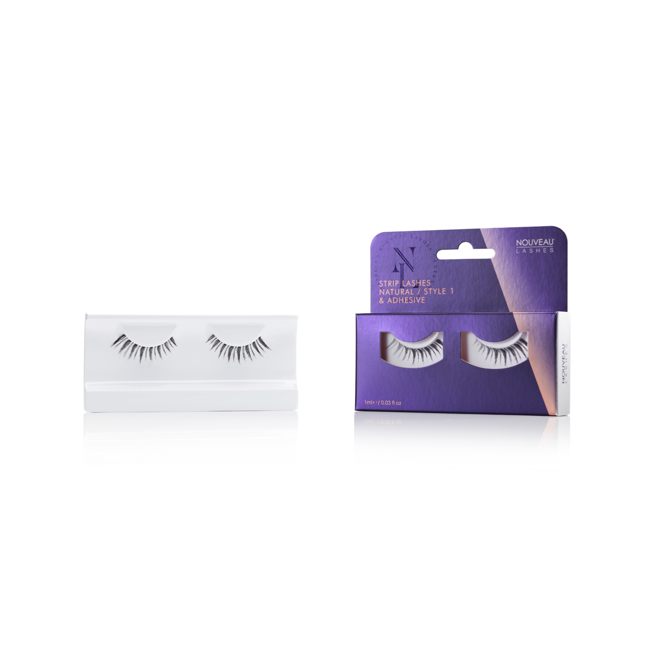 Nouveau Strip Lashes Natural Style 1