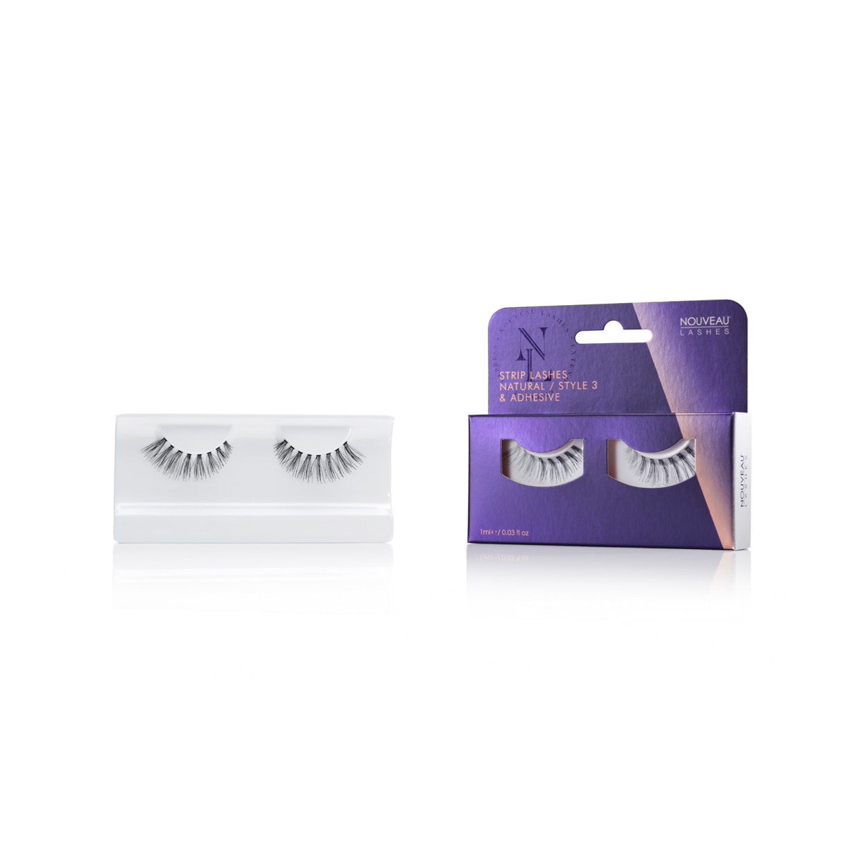 Nouveau Strip Lashes Natural Style 3