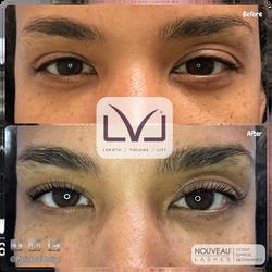 LVL lashes- lash lift and tint