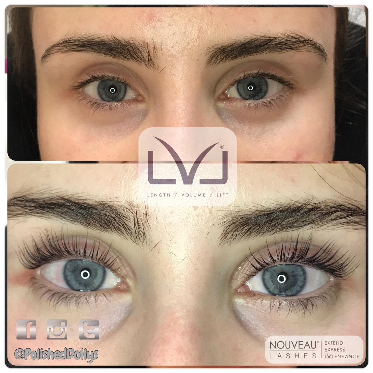 LVL lashes- lash lift and tint