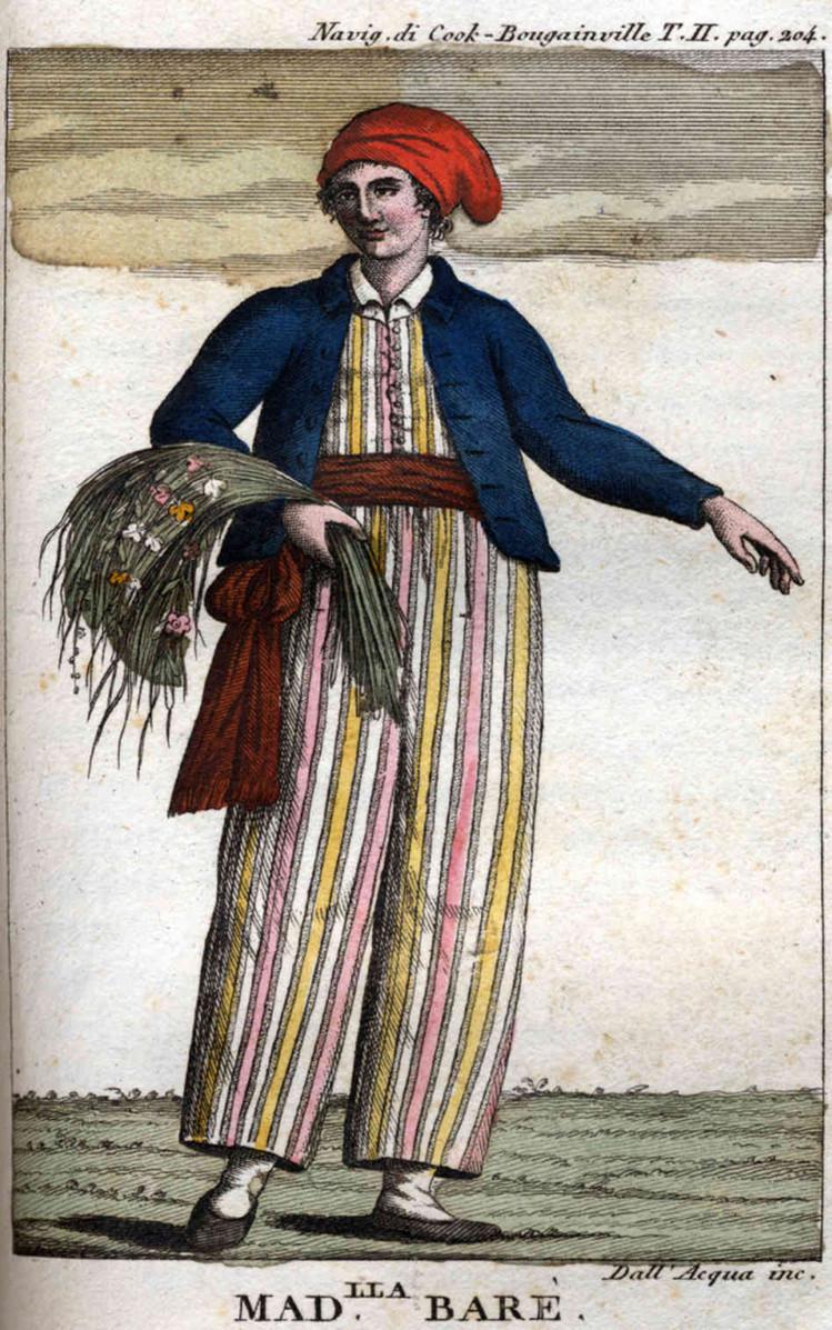 Portrait of botanist and explorer Jeanne Barret by Cristoforo Dall'Acqua