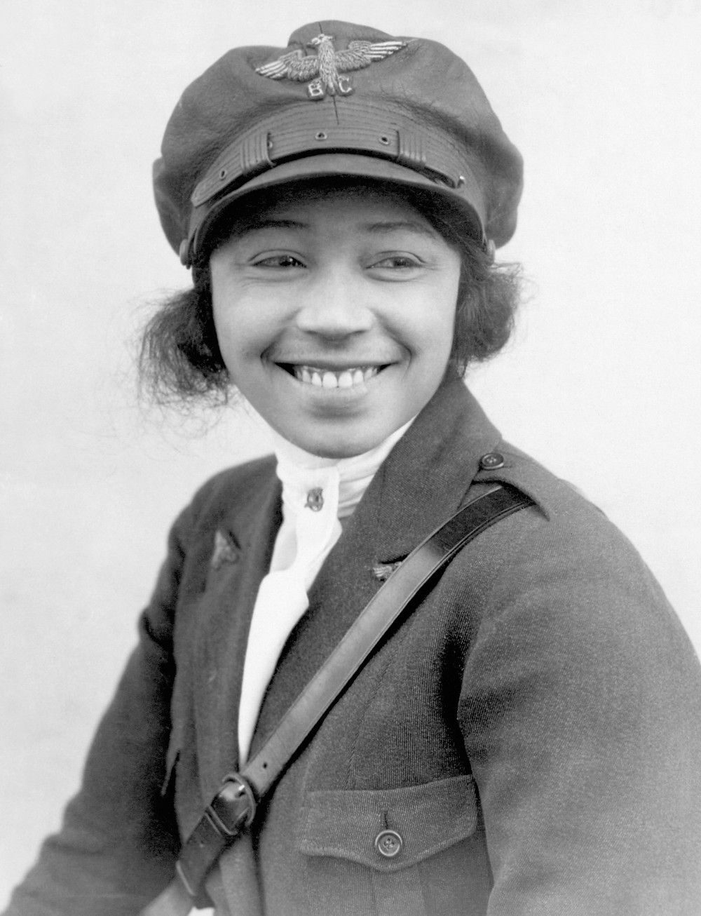 Bessie Coleman, African American female aviator, in 1923