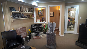 Tombstones, Monuments and Markers in the Ingersoll Memorials showroom