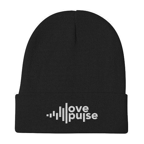 Love Pulse Embroidered Beanie