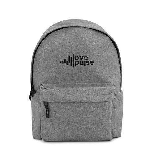 Love Pulse Embroidered Backpack