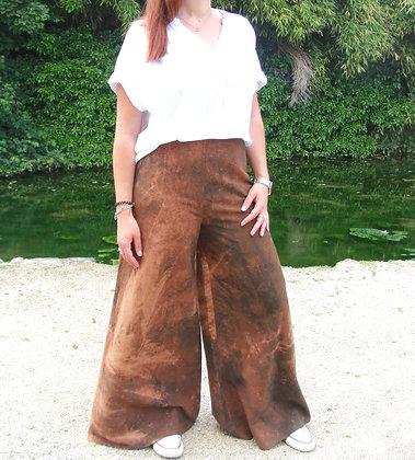 Pantalon très large en tie & dye