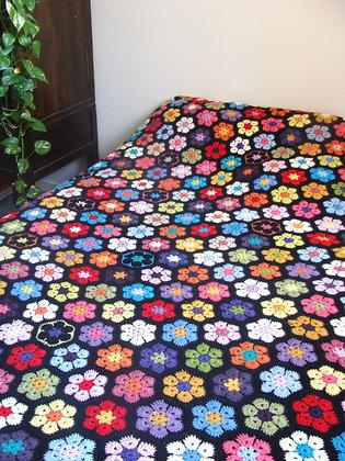 Couverture couvre lit en granny