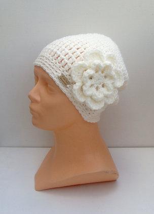 Bonnet  avec fleur amovible