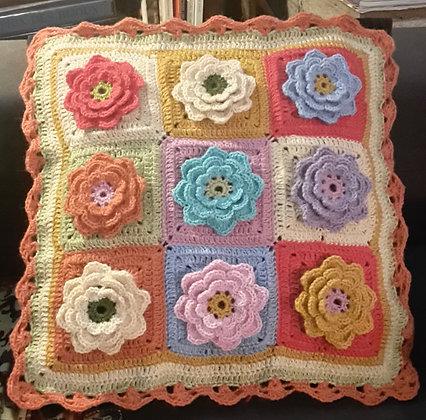 Housse de coussin en fleurs