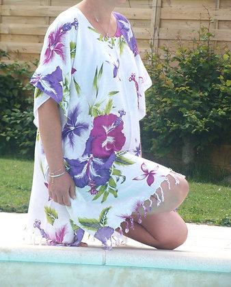 Tunique boubou fleurs