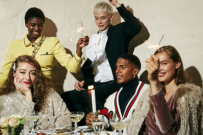 New Year's Eve Dinner Party by Krystian Lipiec