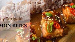 Spicy Teriyaki Salmon Bites