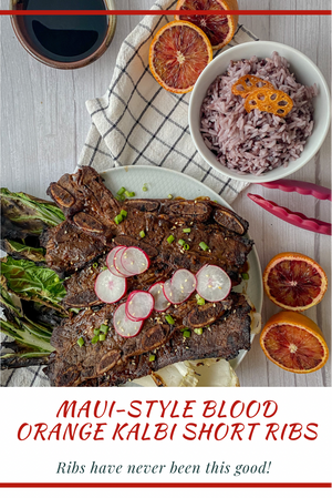 Maui-Style Blood Orange Kalbi Short Ribs