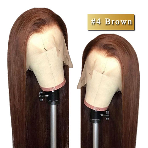 360 Lace Front Human Hair Wigs Brown Lace Front Wig Peruvian Straight Human Hair