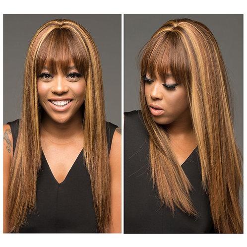 Ombre Human Hair Wig P4-27 Colored Straight Human Hair Brazilian Human Hair Wig