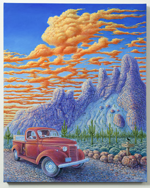 Red Truck Sunset